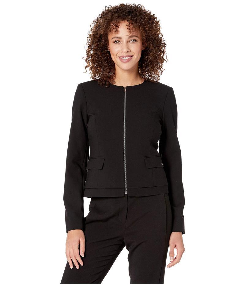 カルバンクライン レディース コート アウター Lux Zip Front Jacket Black