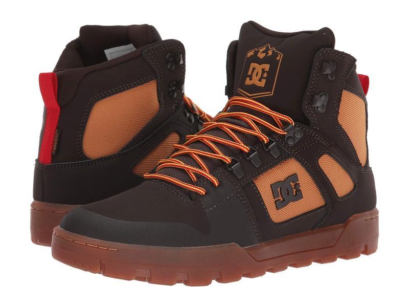 ディーシー メンズ スニーカー シューズ Pure High-Top WR Boot Chocolate Brown