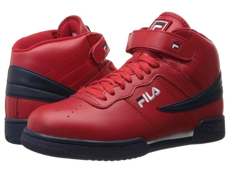 フィラ メンズ スニーカー シューズ F-13V Leather/Synthetic Fila Red/Fila Navy/White