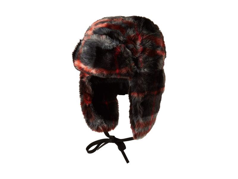 エコーデザイン レディース 帽子 アクセサリー Faux Fur Trapper Black Multi