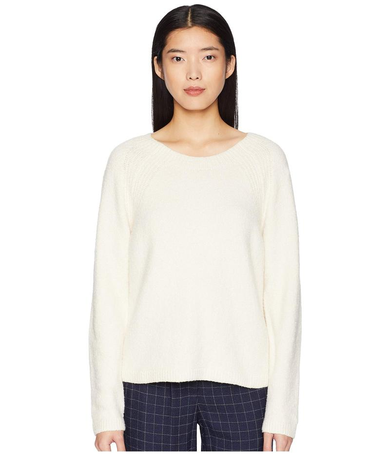 エイリーンフィッシャー レディース ニット・セーター アウター Organic Cotton Round Neck Short Box-Top Soft White