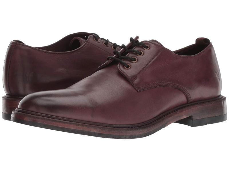フライ メンズ オックスフォード シューズ Murray Oxford Oxblood Washed Dip-Dye Leather