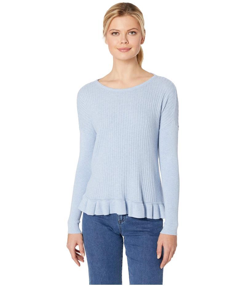 リラピー レディース ニット・セーター アウター Ruffle Hem Boat Neck Sweater Glass