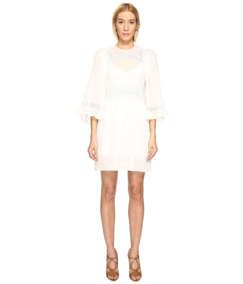 アレキサンダー・マックイーン レディース ワンピース トップス Volume Sleeve Dress Ivory