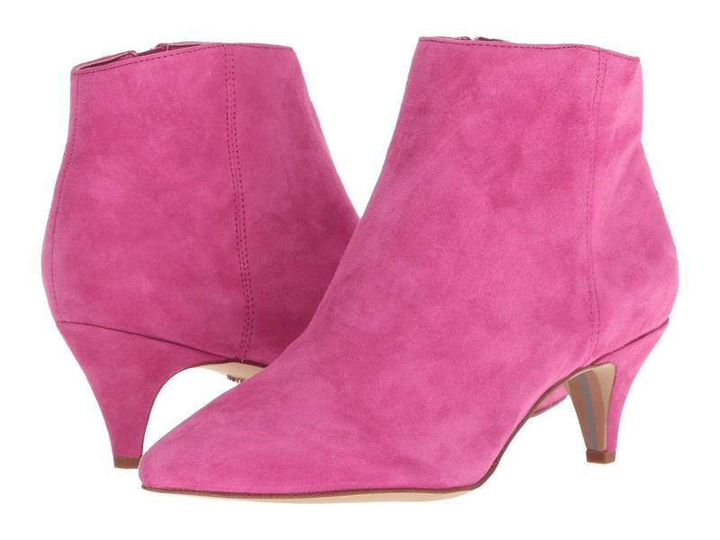 サムエデルマン レディース ブーツ・レインブーツ シューズ Kinzey Retro Pink Kid Suede Leather