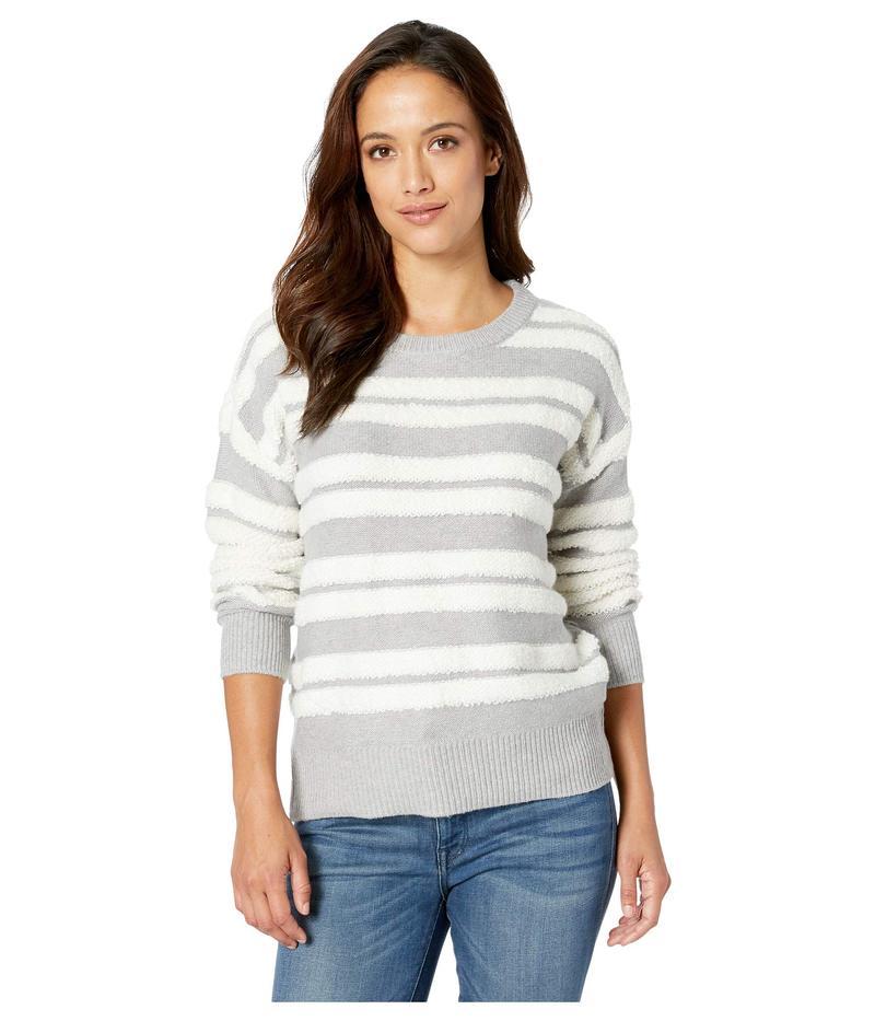 トゥーバイビンスカムート レディース ニット・セーター アウター Long Sleeve Loop Stripe Crew Neck Sweater Light Heather Grey