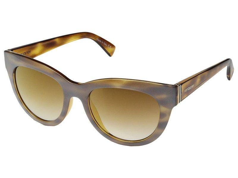ボンジッパー メンズ サングラス・アイウェア アクセサリー Queenie Frosted Tortoise/Gold Chrome Grad