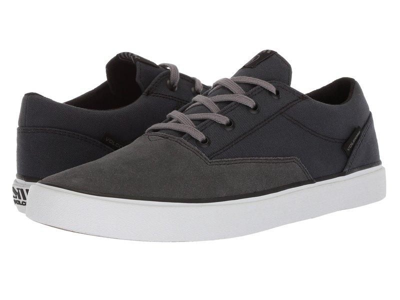 ボルコム メンズ スニーカー シューズ Draw Lo Suede Shoes Grey Vintage