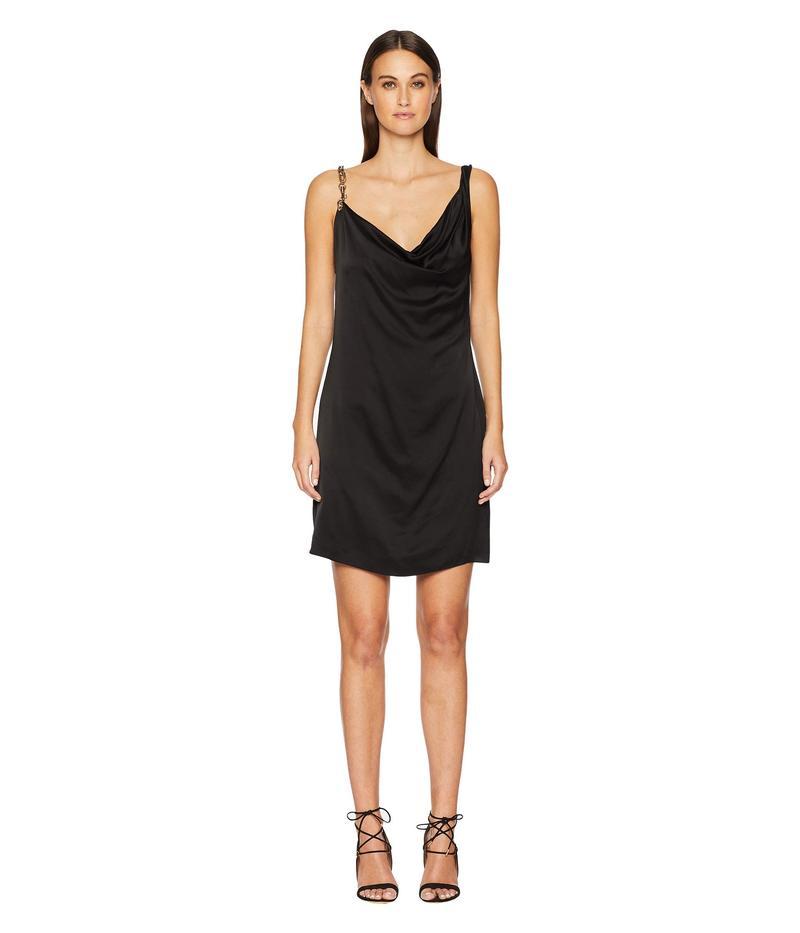 ヴェルサス ヴェルサーチ レディース ワンピース トップス Abito Donna Tessuto Dress Black