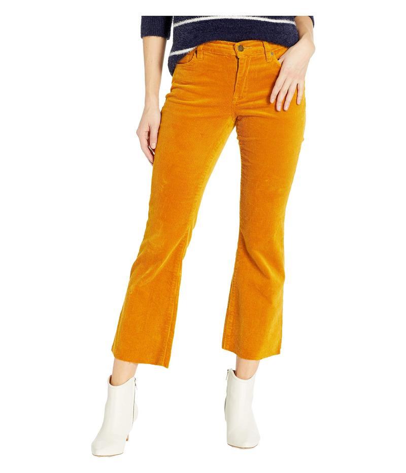 ブランクニューヨーク レディース カジュアルパンツ ボトムス The Varick Corduroy Kick Flare Pants in Marigold Marigold