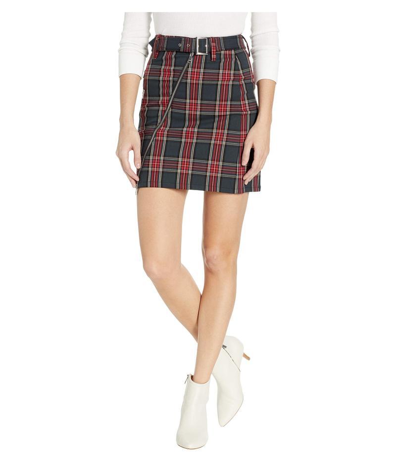 ベベ レディース スカート ボトムス Plaid Asymmetrical Mini Skirt Stark Plaid