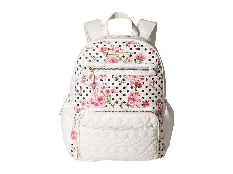 ベッツィジョンソン レディース マザーズバッグ バッグ Convertible Backpack Diaper Bag Cream Multi