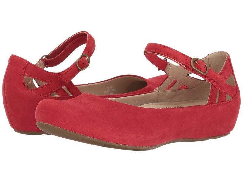 アース レディース サンダル シューズ Capri Earthies Bright Red Soft Buck