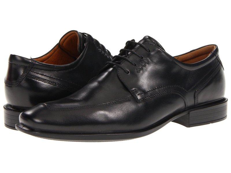 エコー メンズ オックスフォード シューズ Cairo Apron Toe Tie Black Oxford Leather