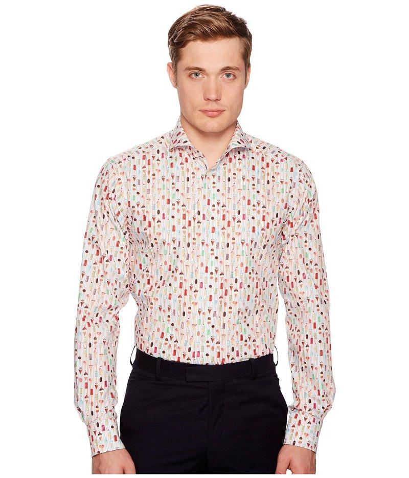 エトン メンズ シャツ トップス Contemporary Fit Ice Cream Shirt Multi