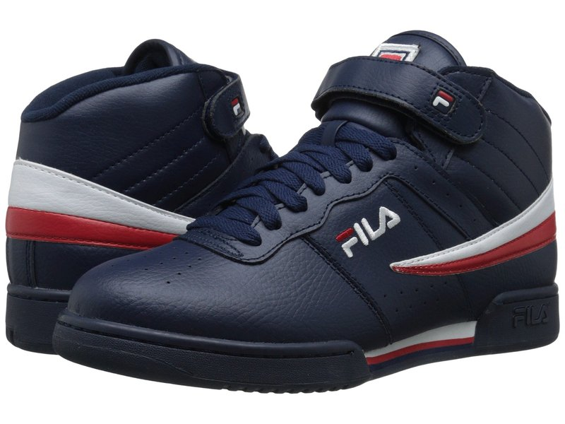 フィラ メンズ スニーカー シューズ F-13V Leather/Synthetic Fila Navy/White/Fila Red