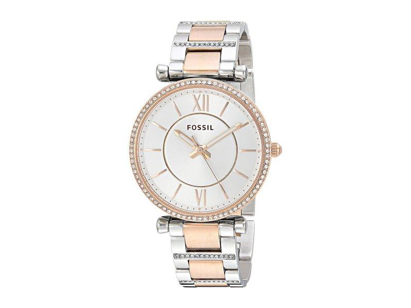 フォッシル レディース 腕時計 アクセサリー Carlie - ES4342 Silver/Rose Gold