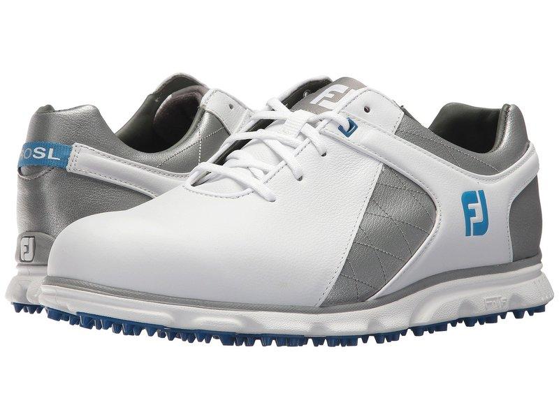 フットジョイ メンズ スニーカー シューズ Pro SL Spikeless Plain Toe Rover Whte/Grey/Light Blue Trim