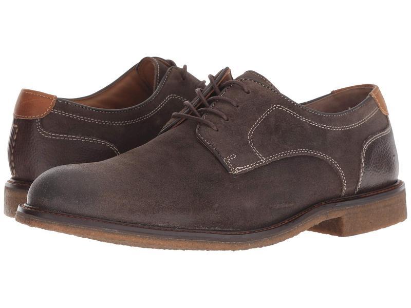 ジョンストンアンドマーフィー メンズ オックスフォード シューズ Copeland Plain Toe Gray Water-Resistant Oiled Suede