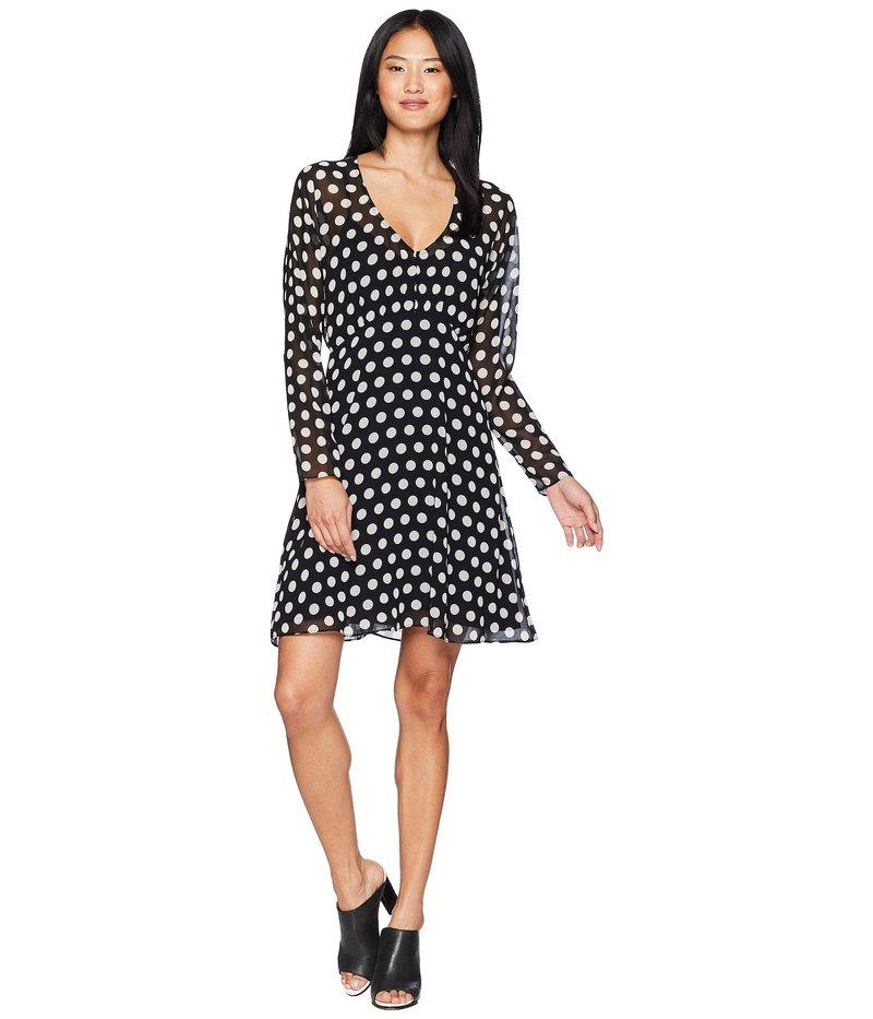 ジューシークチュール レディース ワンピース トップス All Over Dot Flirty Dress Pitch Black Polka Dot