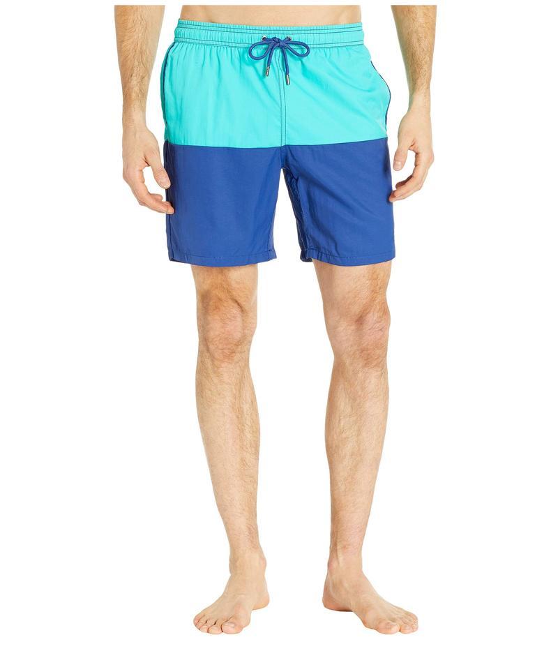 ミスタースイム メンズ ハーフパンツ・ショーツ 水着 Color Block Dale Swim Trunks Aqua/Blue
