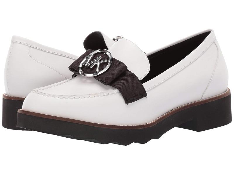 マイケルコース レディース スリッポン・ローファー シューズ Aden Loafer Optic White Vachetta/Grosgrain