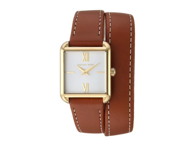 マイケルコース レディース 腕時計 アクセサリー MK2760 - Lake Double Wrap Brown/Yellow Gold