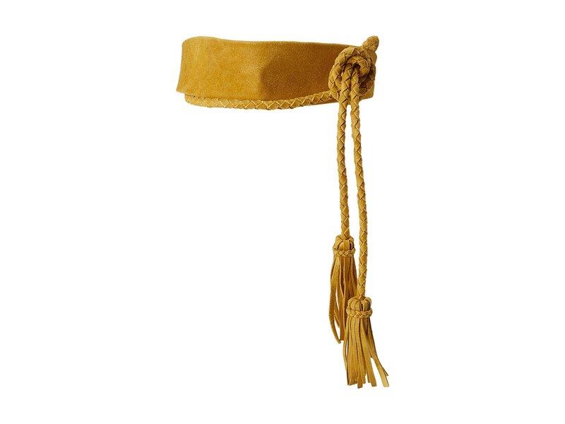 アダ レディース ベルト アクセサリー Lucky Wrap Belt Mustard Suede