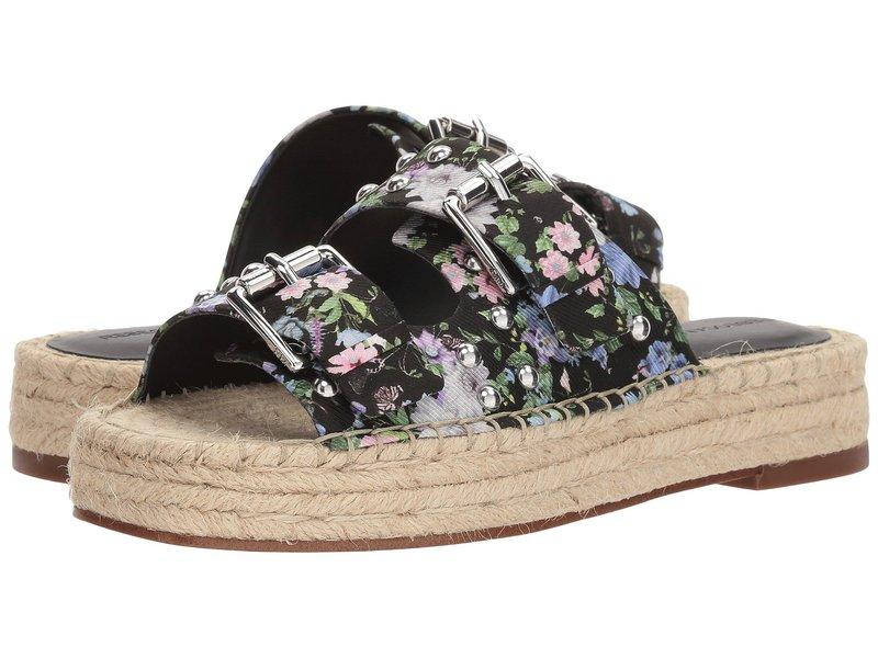 レベッカミンコフ レディース サンダル シューズ Jodi Black Garden Floral Silk