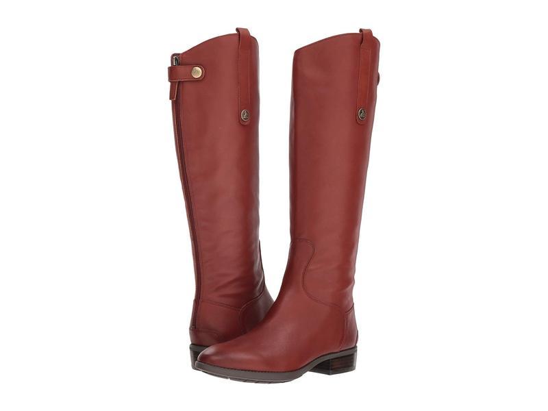 サムエデルマン レディース ブーツ・レインブーツ シューズ Penny Leather Riding Boot Redwood Brown Basto Crust Tumbled Leather