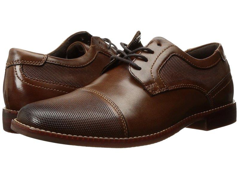 ロックポート メンズ オックスフォード シューズ Style Purpose Perf Cap Toe Brown Leather