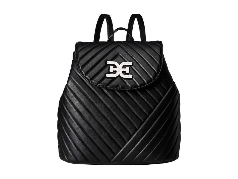 サムエデルマン レディース バックパック・リュックサック バッグ Martha Flap Backpack Black/White