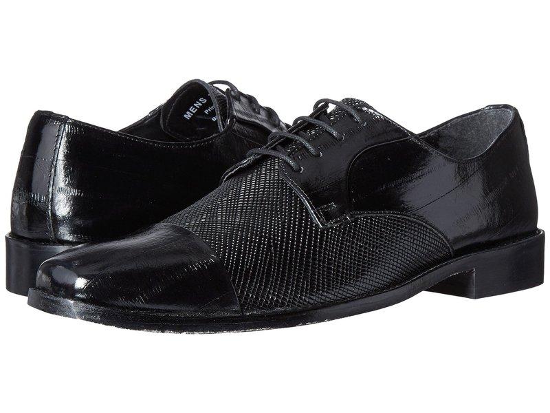 ステイシーアダムス メンズ オックスフォード シューズ Gatto Leather Sole Cap Toe Oxford Black