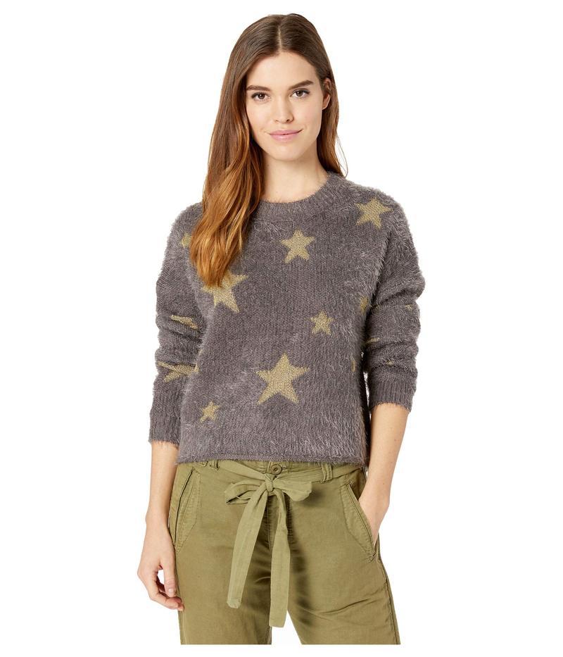 ウミーユアムーム レディース ニット・セーター アウター Cropped Varsity Sweater Shine Star Knit