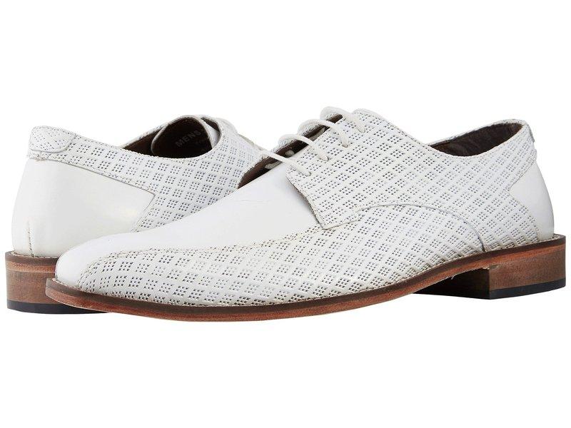 ステイシーアダムス メンズ オックスフォード シューズ Gianluca Bike Toe Oxford White