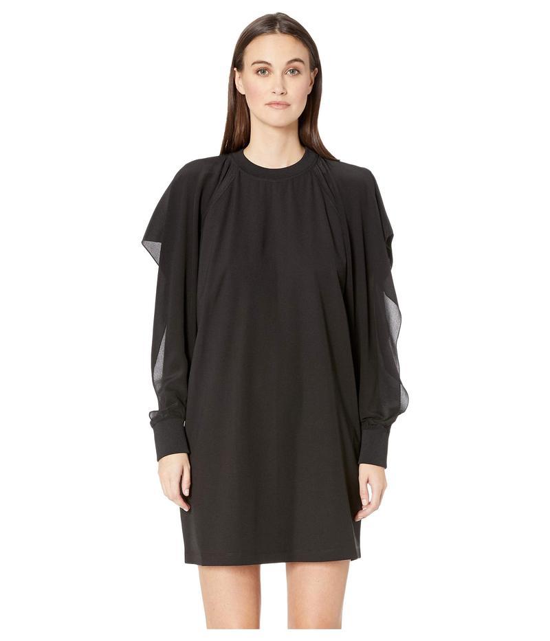 スポーツマックス レディース ワンピース トップス Teiera Long Sleeve Cold Shoulder Dress Black