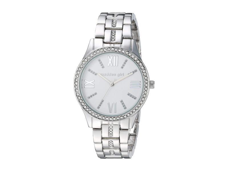スティーブ マデン レディース 腕時計 アクセサリー Madden Girl Stone Bracelet Watch and Stud Earrings Set SMGS021 Silver