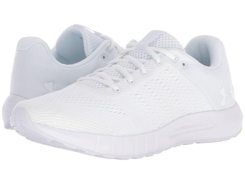 アンダーアーマー レディース スニーカー シューズ UA Micro G Pursuit White/White/White