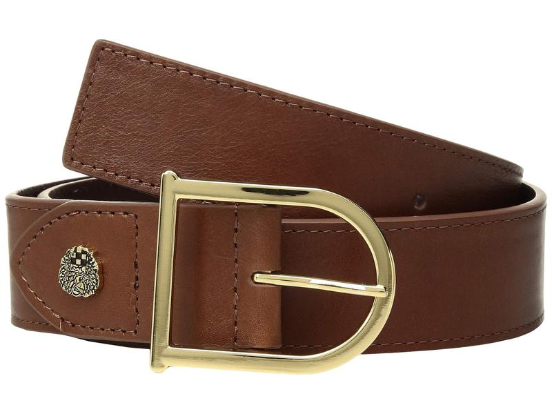ヴィンスカムート レディース ベルト アクセサリー Smooth Leather Belt with Signature Cognac