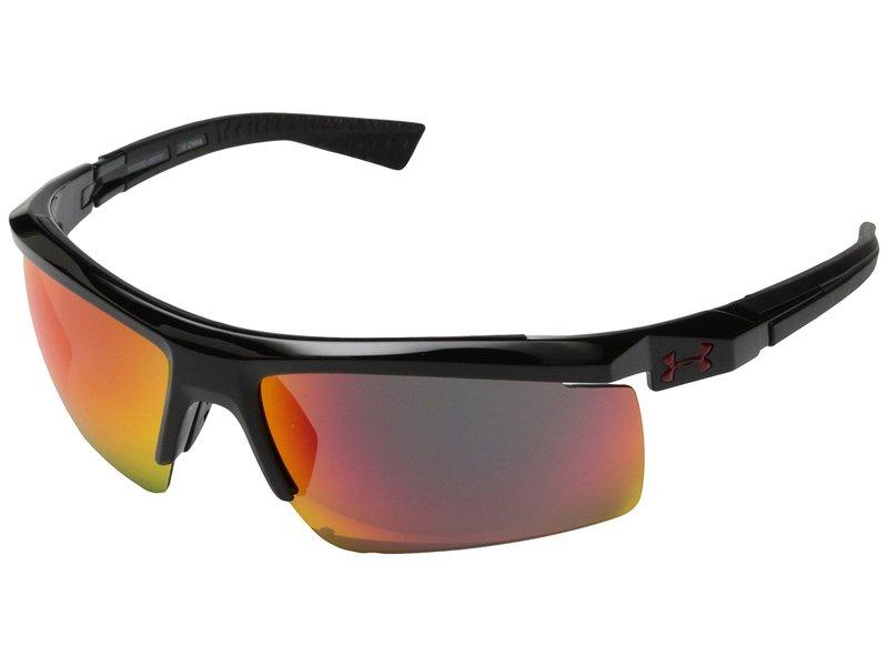 アンダーアーマー メンズ サングラス・アイウェア アクセサリー Core 2.0 Shiny Black/Black Frame/Gray/Infrared Multiflection Lens