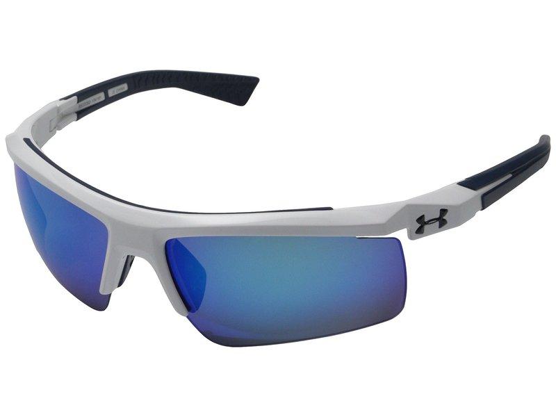 アンダーアーマー メンズ サングラス・アイウェア アクセサリー Core 2.0 Shiny White/Navy Frame/Gray/Blue Multiflection Lens