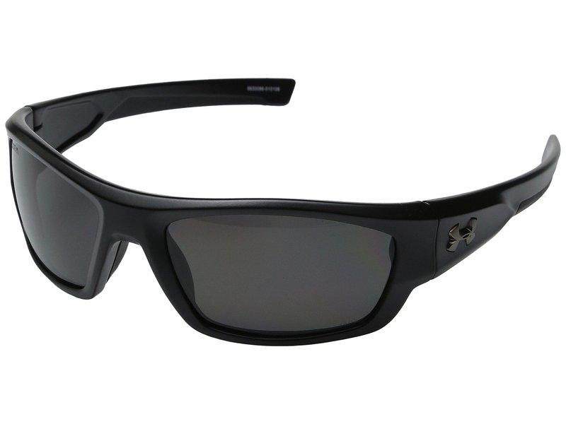 アンダーアーマー メンズ サングラス・アイウェア アクセサリー UA Force Storm ANSI Satin Black/Black Frame/Gray Polarized Lens