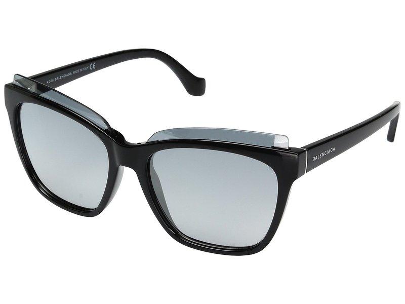 バレンシアガ レディース サングラス・アイウェア アクセサリー BA0093 Black Front/Black Temple/Palladium Logo/Flash Gradient Smoke Len