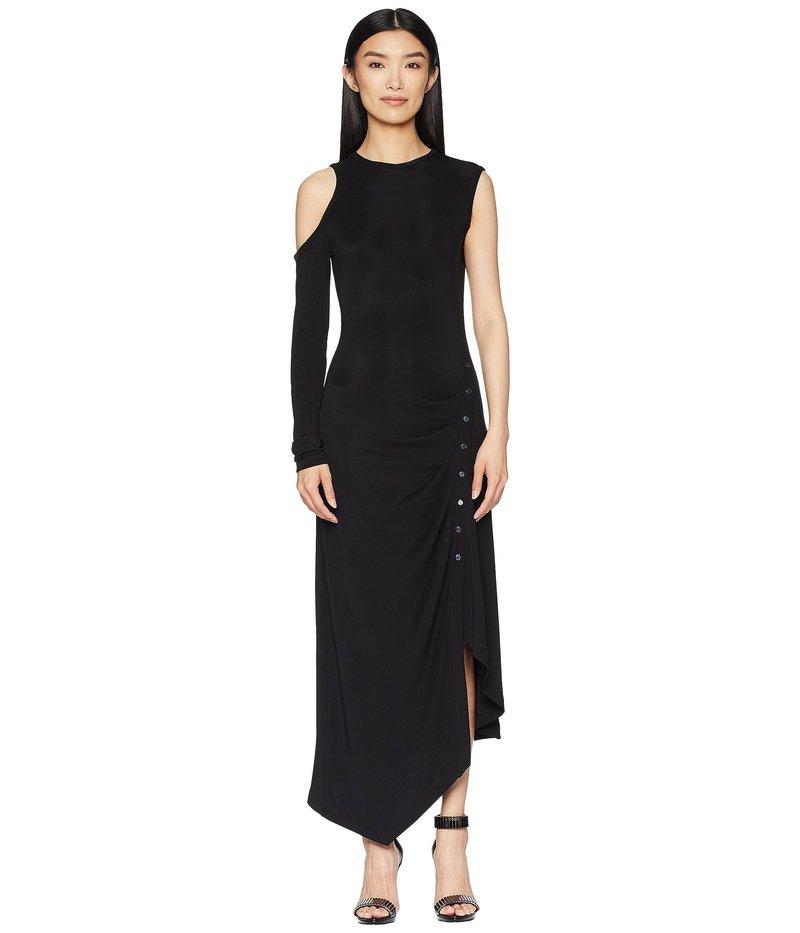 イエガルズロール レディース ワンピース トップス Matte Jersey One Sleeve Dress with Snap Closure Jet