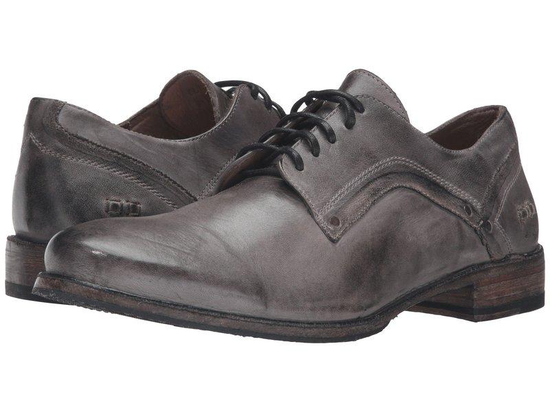 ベッドステュ メンズ オックスフォード シューズ Larino Stone Grey Dip Dye Leather