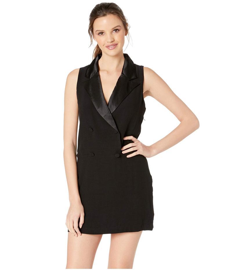ビービーダコタ レディース ワンピース トップス She Means Business Tuxedo Dress Black