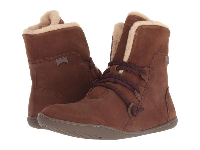 カンペール レディース ブーツ・レインブーツ シューズ Peu Cami - 46477 Medium Brown 1