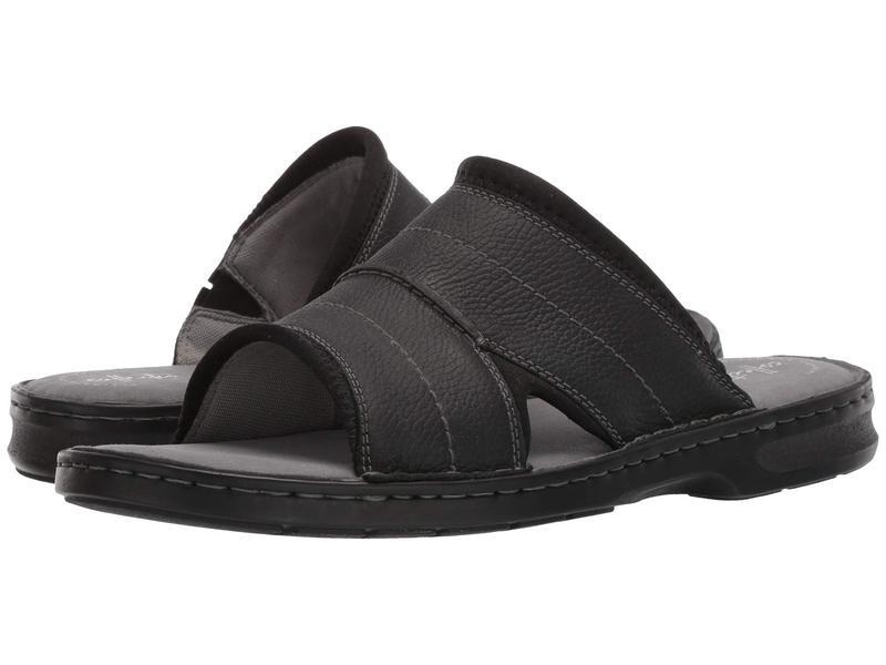 クラークス メンズ サンダル シューズ Malone Easy Black Leather