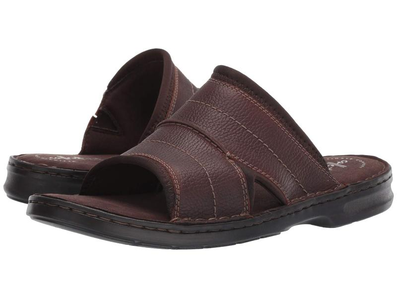 クラークス メンズ サンダル シューズ Malone Easy Dark Brown Tumbled Leather