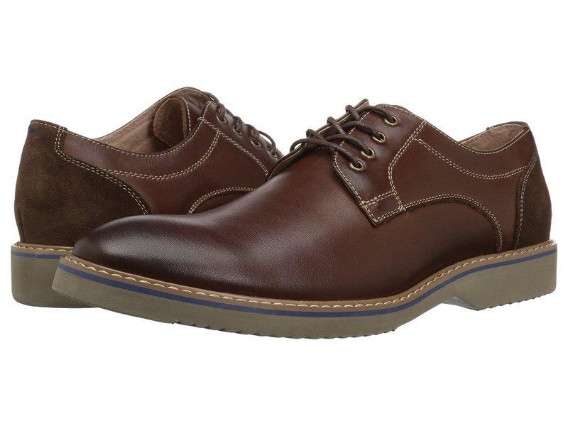 フローシャイム メンズ オックスフォード シューズ Union Plain Toe Oxford Chocolate Leather/Suede